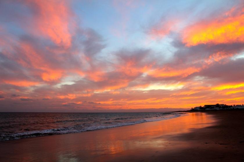 Playa Pocillos Sunset