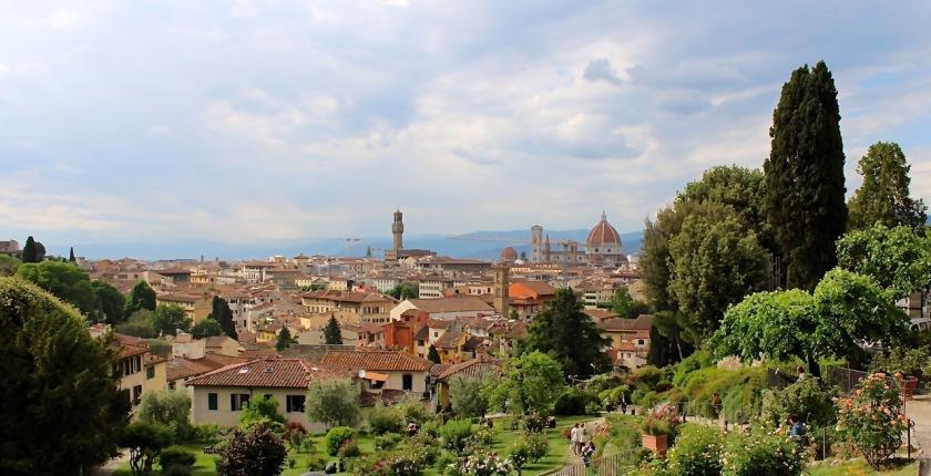 Blick auf Florenz vom Rosengarten aus  (© casowi)